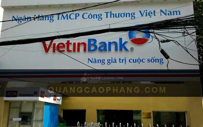Mặt dựng ốp alu ngân hàng VietinBank