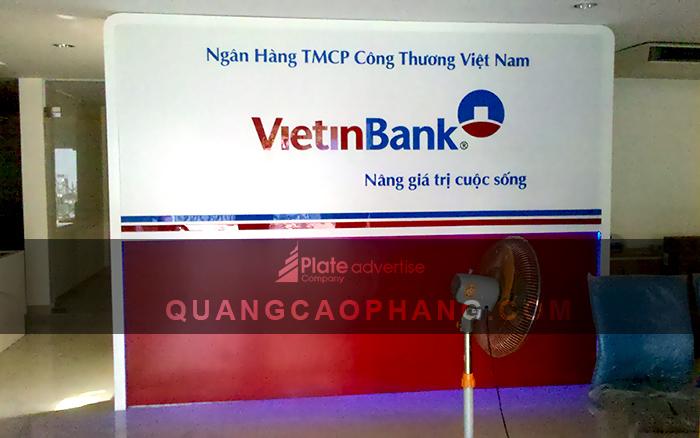 Bảng alu backdrop ngân hàng VietinBank