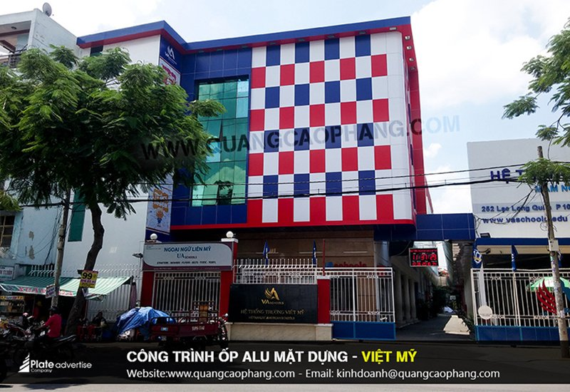 Công trình ốp mặt dựng alu - Việt Mỹ